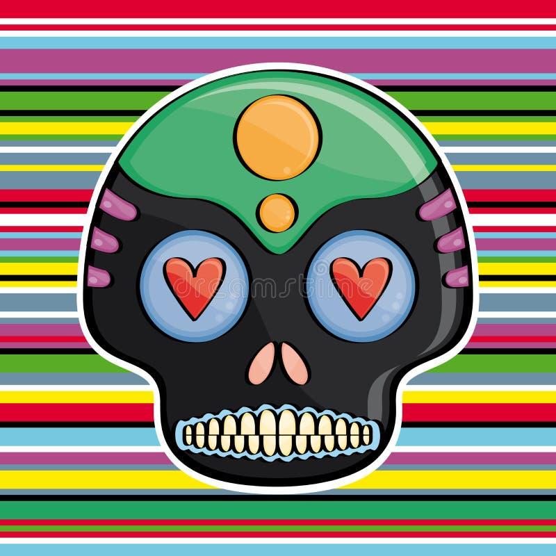 Crâne de sucrerie illustration libre de droits