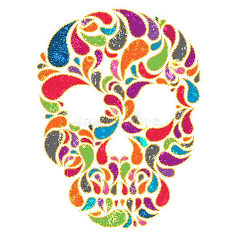 Crâne de vecteur illustration stock