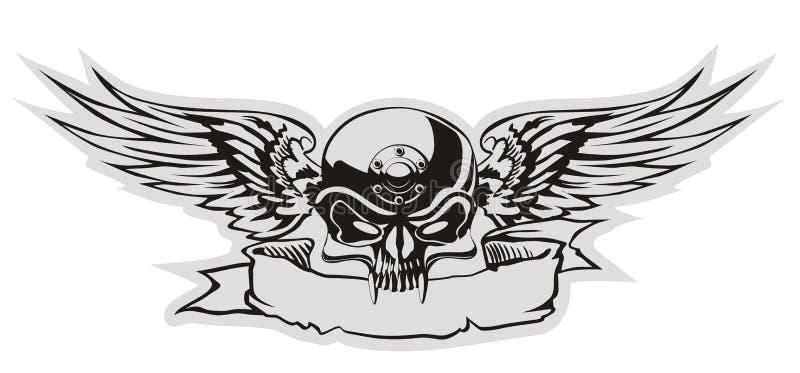 Crâne de vecteur illustration de vecteur