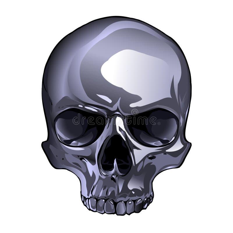 Crâne En Métal Illustration De Vecteur