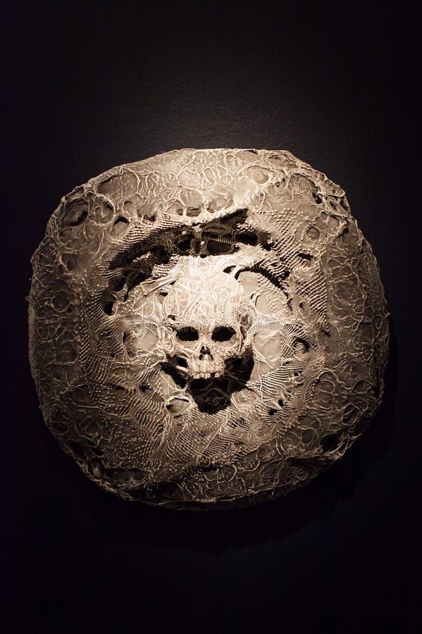 Crâne en pierre photo stock