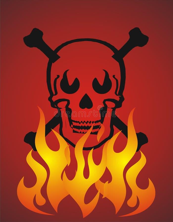 Crâne et incendie illustration libre de droits