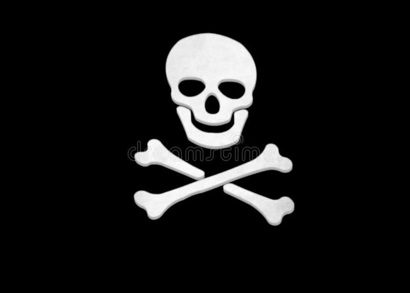 Crâne et os croisés photographie stock