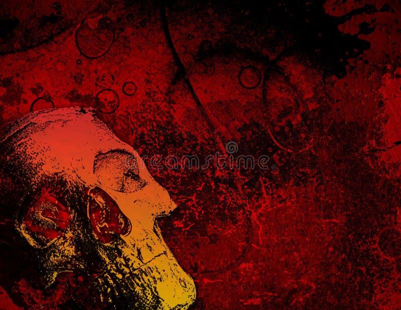 Crâne et texture, horizontal l illustration stock