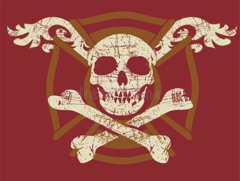 Crâne grunge illustration stock
