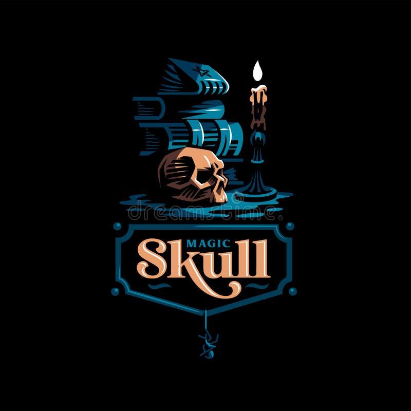 Crâne humain dans un style minimalistic illustration de vecteur