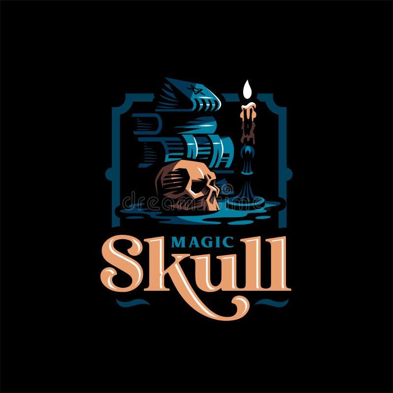 Crâne humain dans un style minimalistic illustration libre de droits