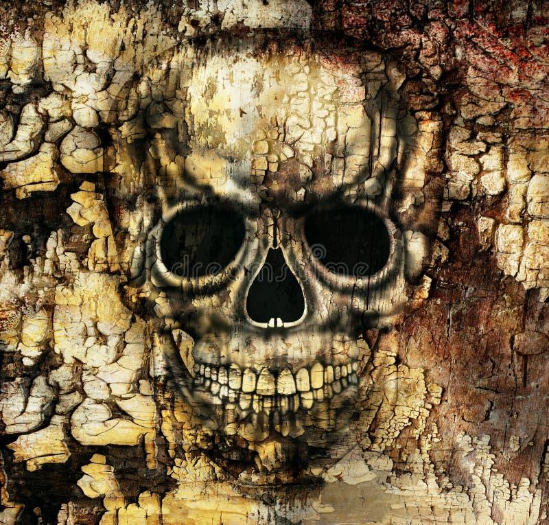 Crâne humain gothique illustration libre de droits