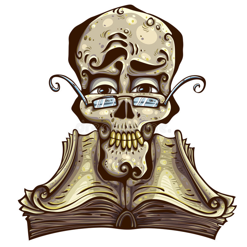 Crâne intelligent. illustration de vecteur
