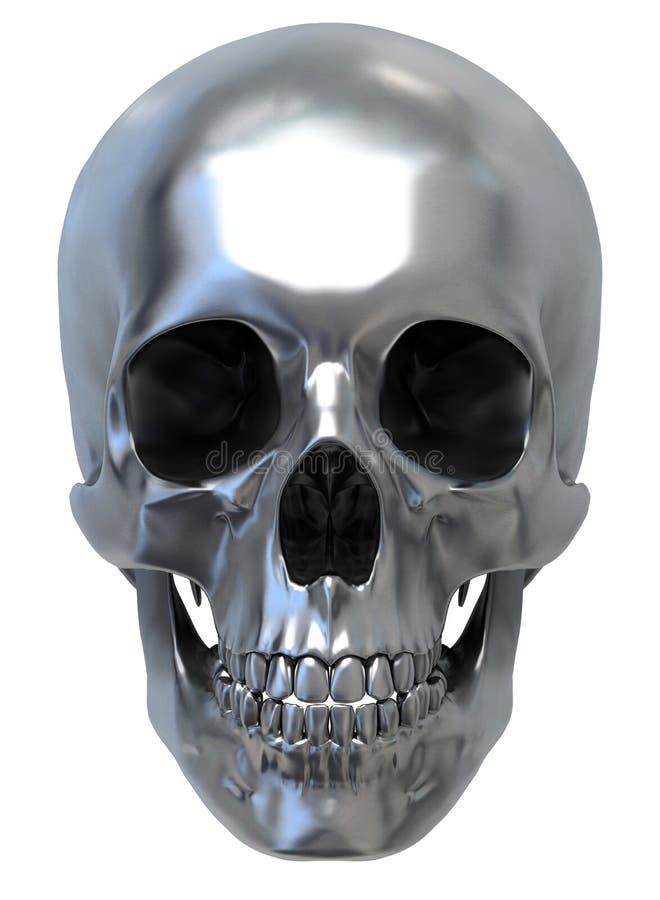 Crâne métallique illustration de vecteur