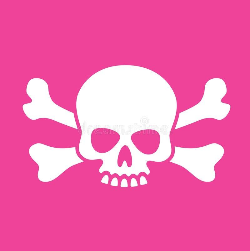 Crâne maladroit et os croisés illustration libre de droits