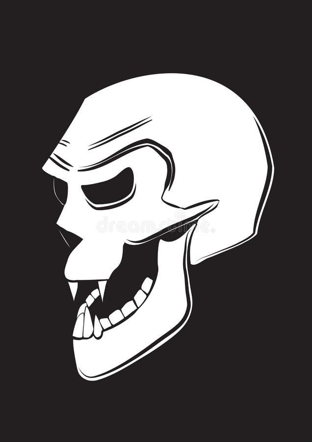 Crâne mauvais photographie stock libre de droits