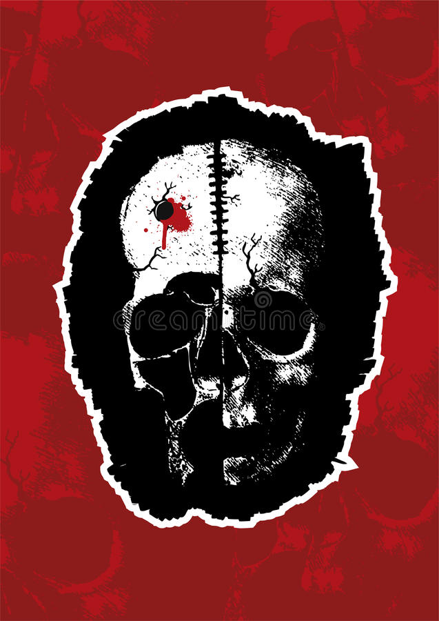 Crâne neuf II de vecteur illustration stock