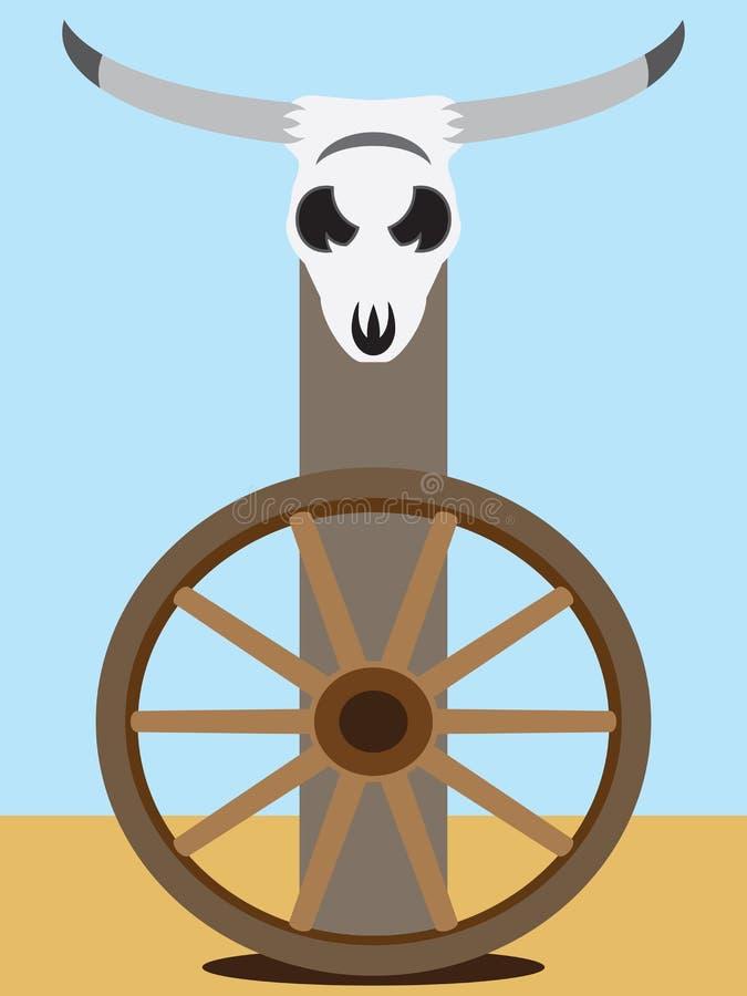 Crâne plat 2 de boeuf de vecteur illustration libre de droits