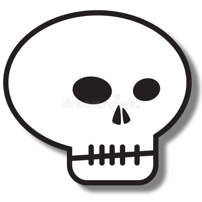 crâne simple de graphisme illustration de vecteur