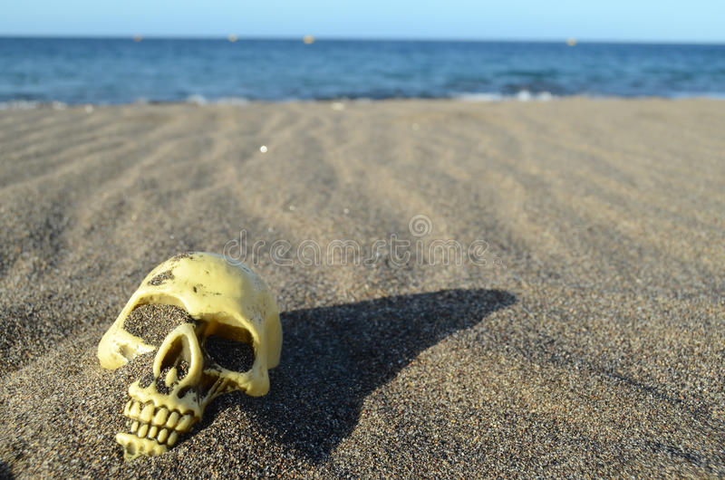 Download Crâne sur le sable image stock. Image du carnaval, partie - 45366447