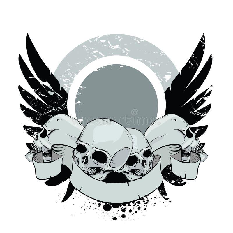 Crânes avec des ailes illustration stock