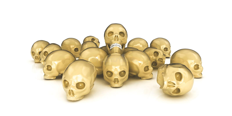 crânes 3d illustration libre de droits