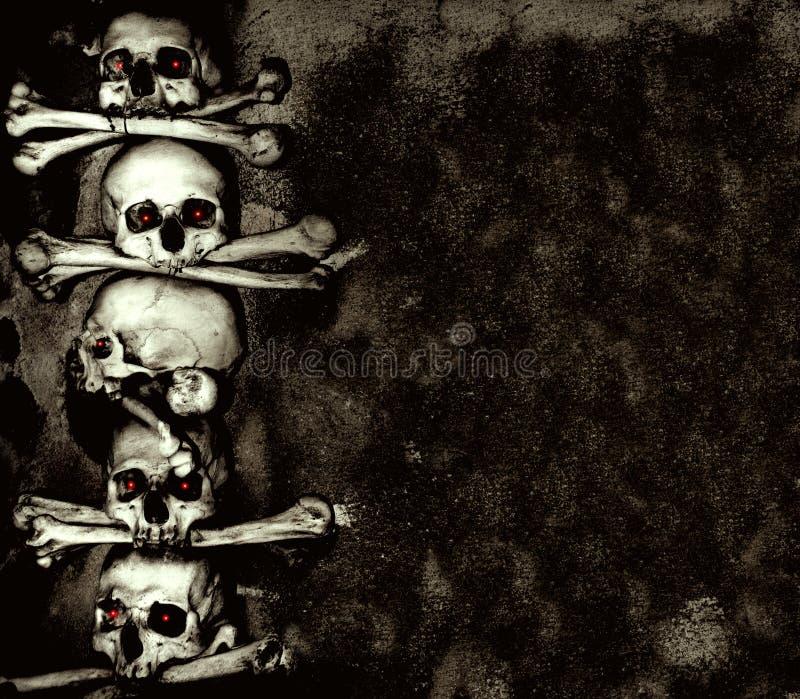 Crânes et os humains illustration de vecteur