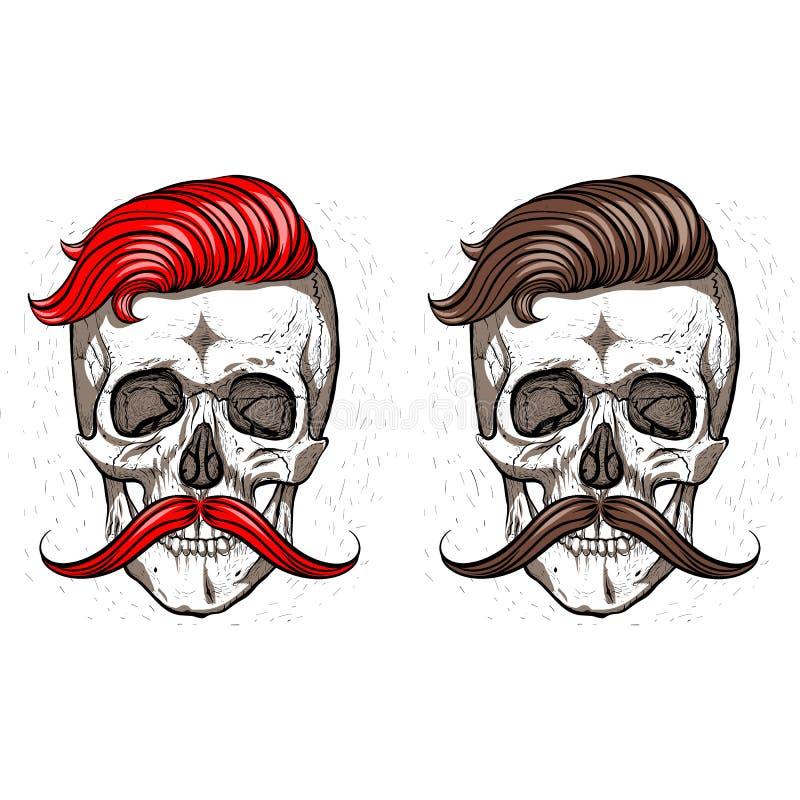 crânes hippies illustration libre de droits