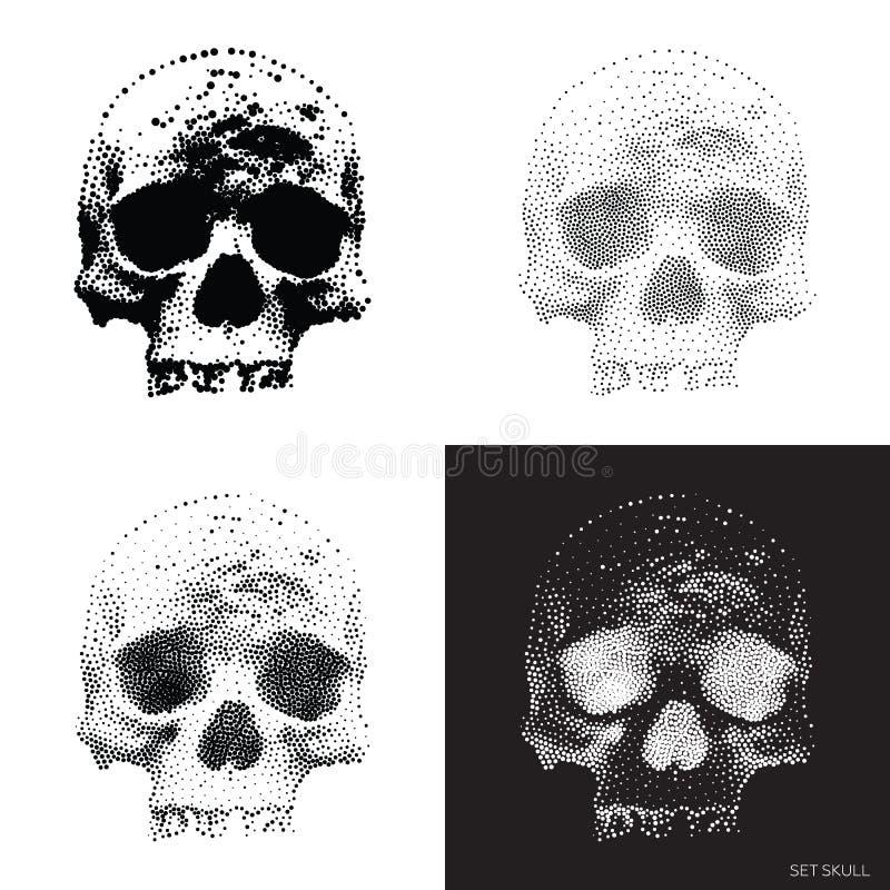Crânio 01 ilustração royalty free