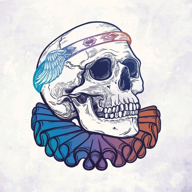 Crânio com diadema elegante imagem de stock