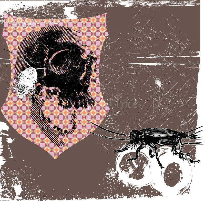 Crânio com fome ilustração royalty free