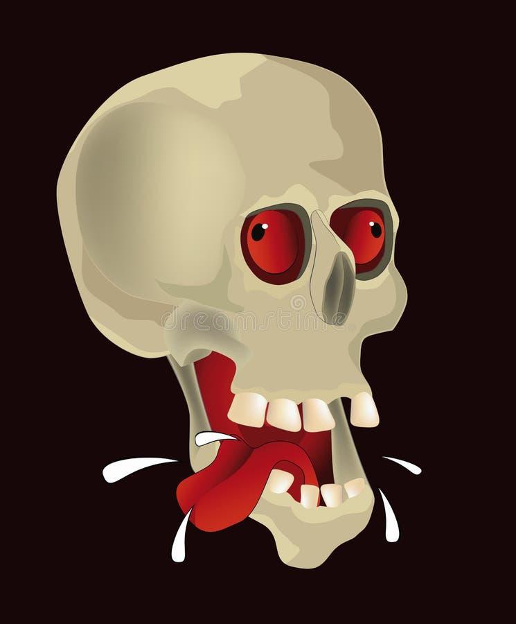 Crânio com fome ilustração do vetor