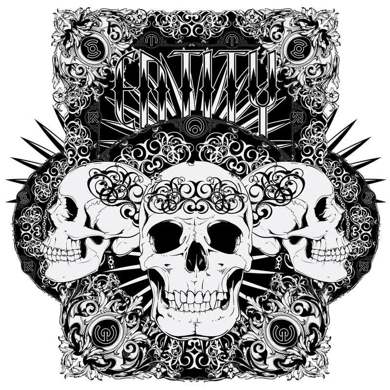 Crânio da entidade ilustração stock