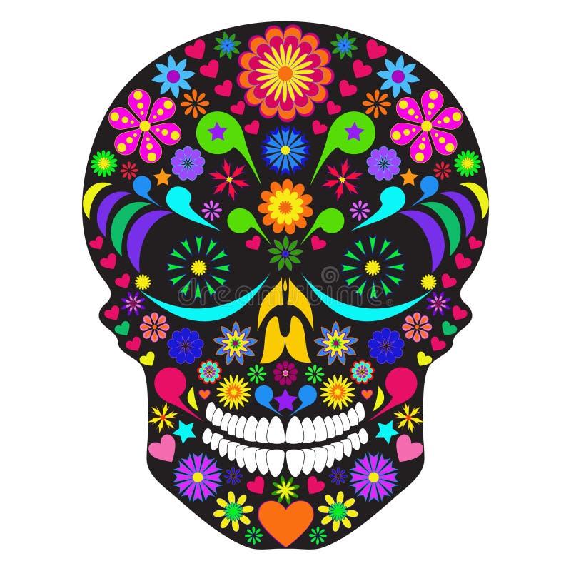 Crânio da flor ilustração stock