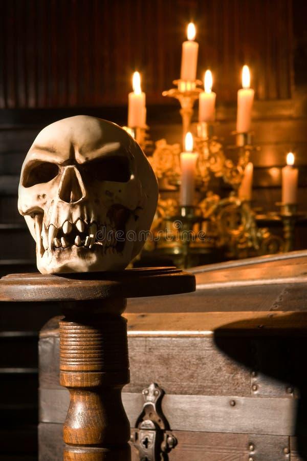 Crânio de Halloween imagens de stock