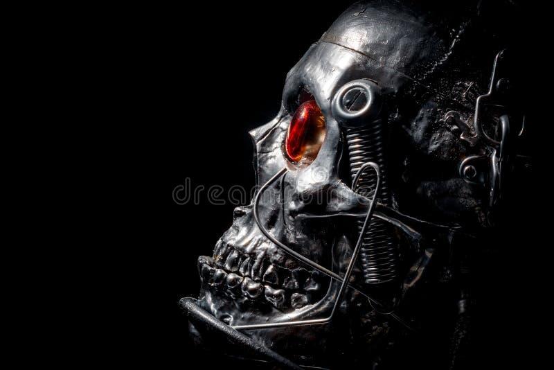 Crânio de um robô humano do tamanho fotos de stock