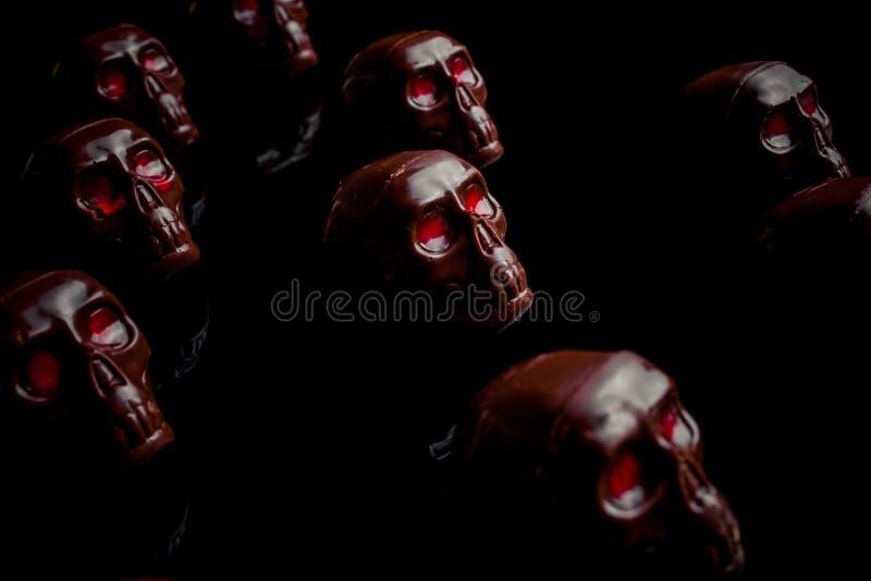 Crânio do chocolate fotos de stock royalty free