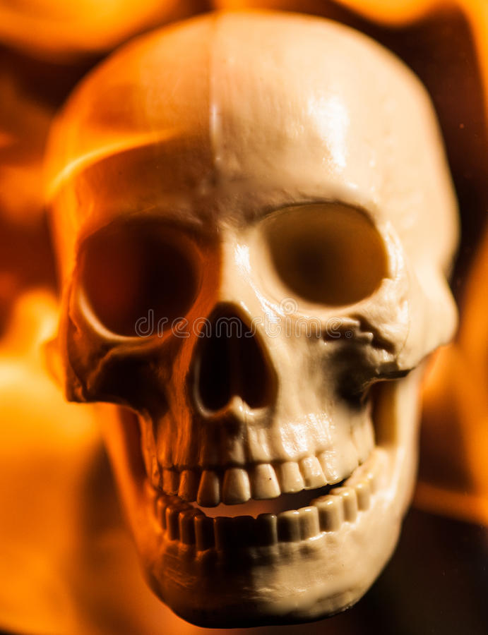 Crânio do fogo fotos de stock