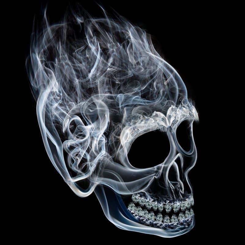 Crânio do fumo foto de stock