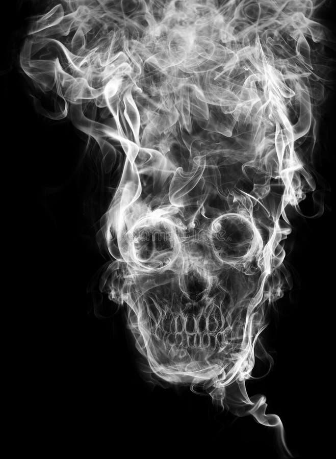 Crânio do fumo ilustração royalty free
