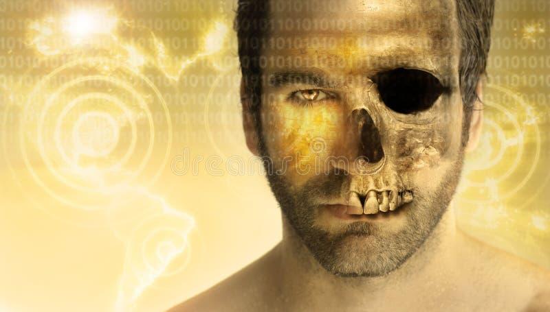 Crânio do homem ilustração stock
