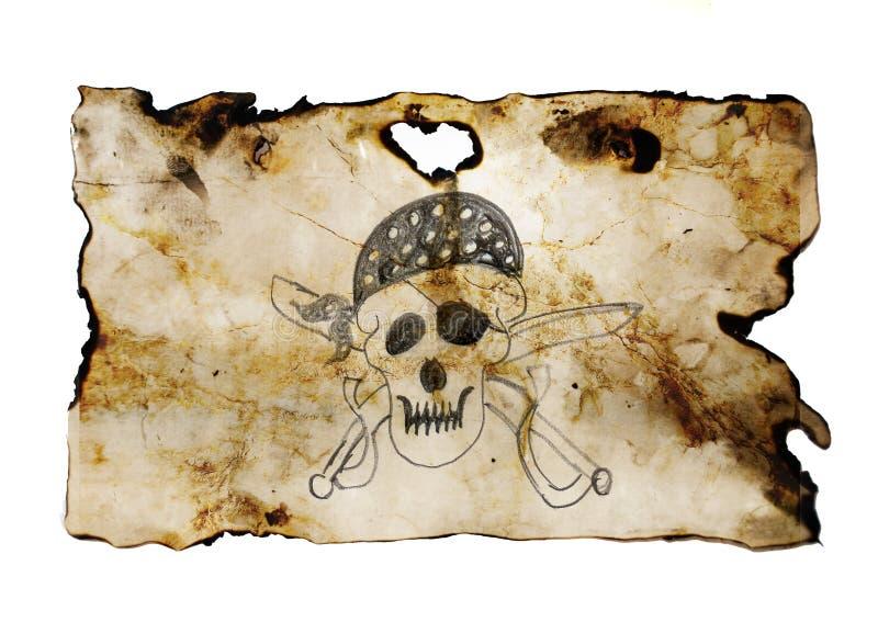 Crânio do pirata com espadas ilustração stock