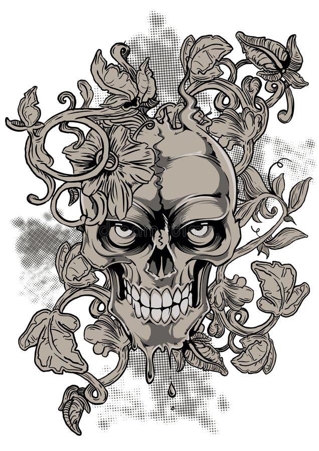 Crânio do sangramento ilustração stock