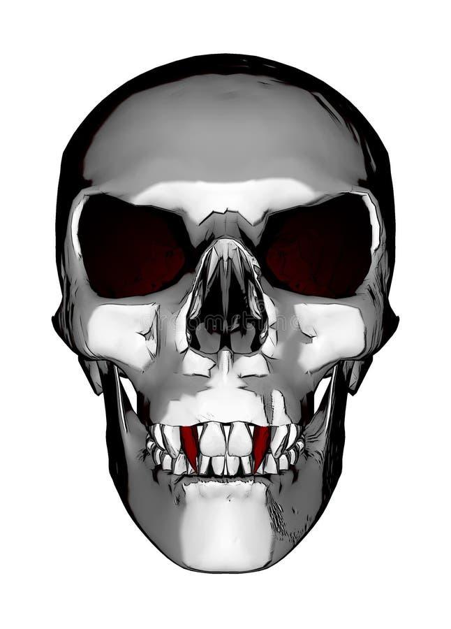 Crânio do vampiro fotos de stock