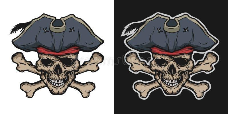 Crânio e crossbones do pirata ilustração royalty free