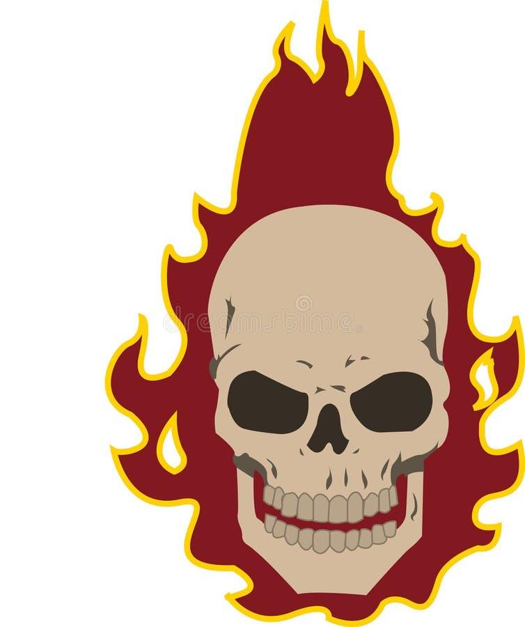 Crânio flamejante ilustração royalty free