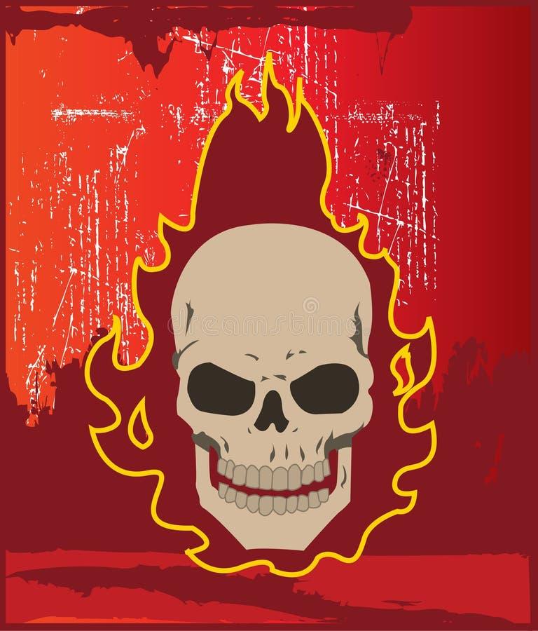Crânio flamejante ilustração do vetor