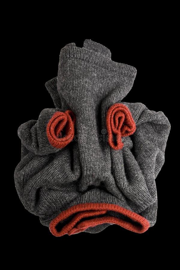 Crânio humano creativo das calças de brim foto de stock