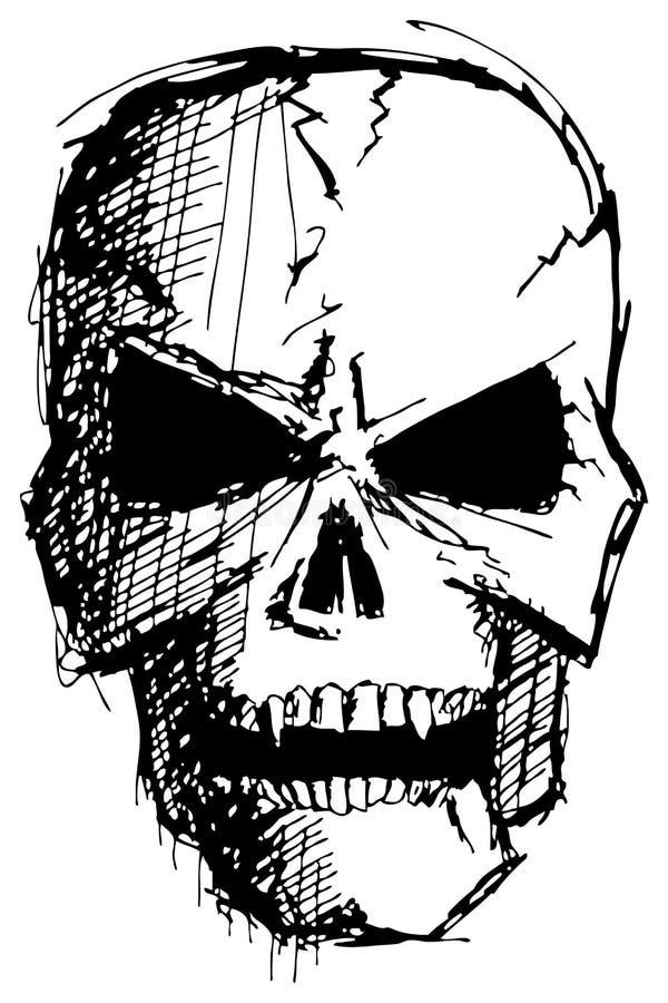 Crânio irritado do monstro ilustração royalty free