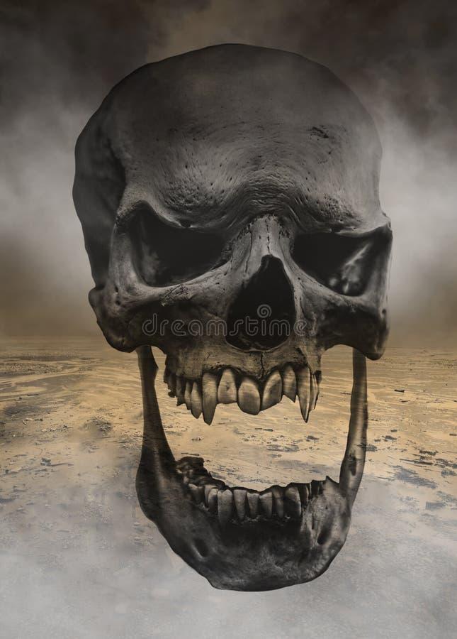 Crânio mau do ser humano de Dia das Bruxas do monstro ilustração royalty free