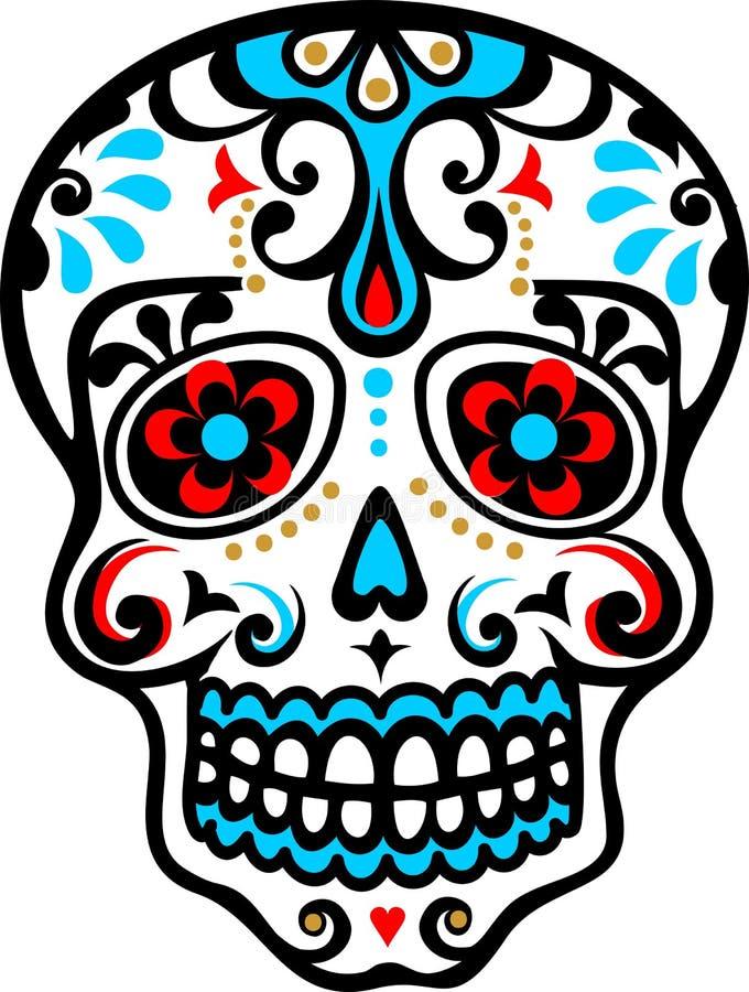 Crânio mexicano ilustração royalty free