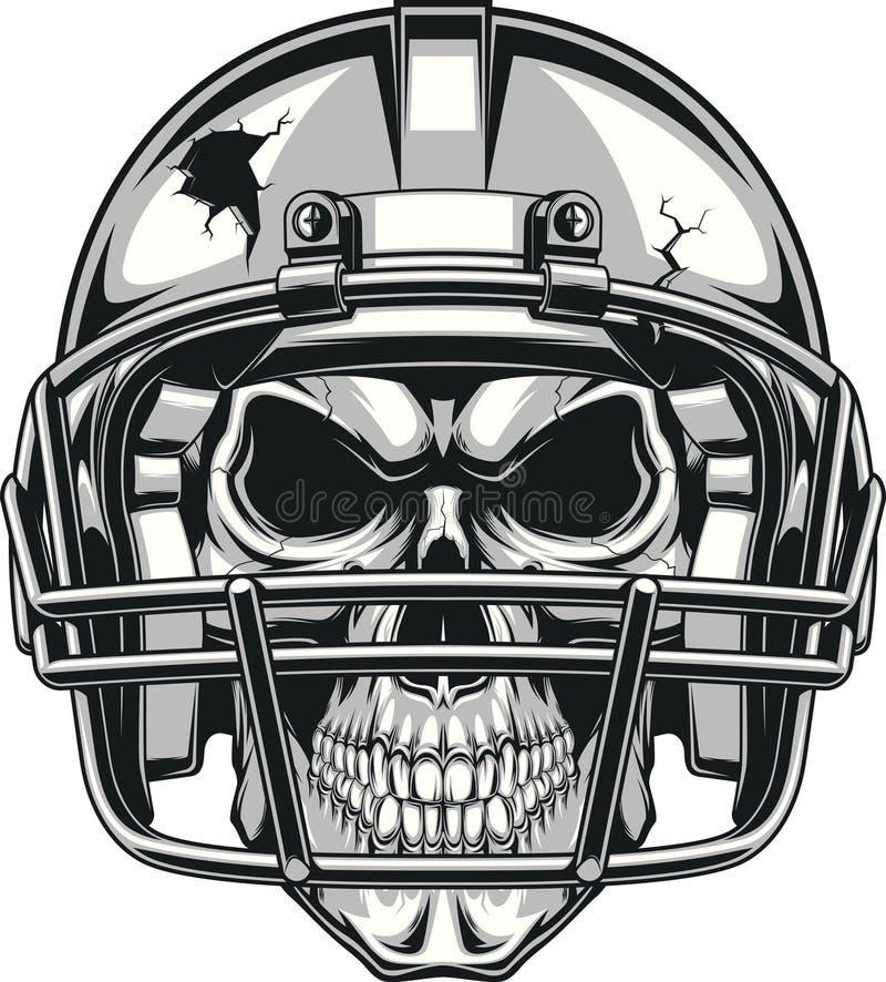 Crânio no capacete ilustração royalty free