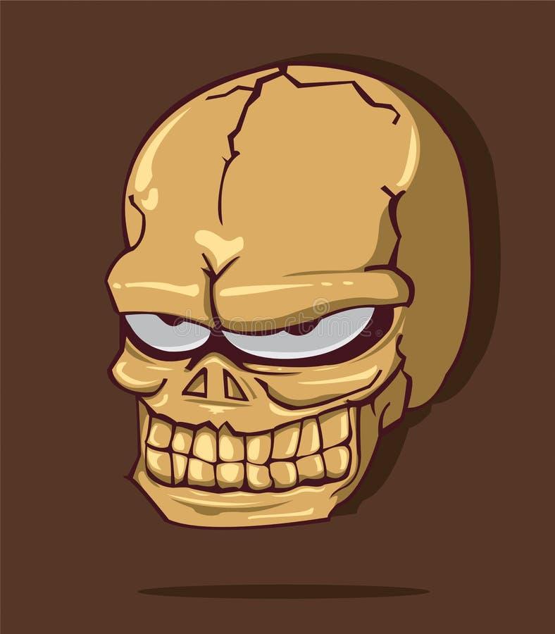 Crânio o Dia das Bruxas ilustração do vetor