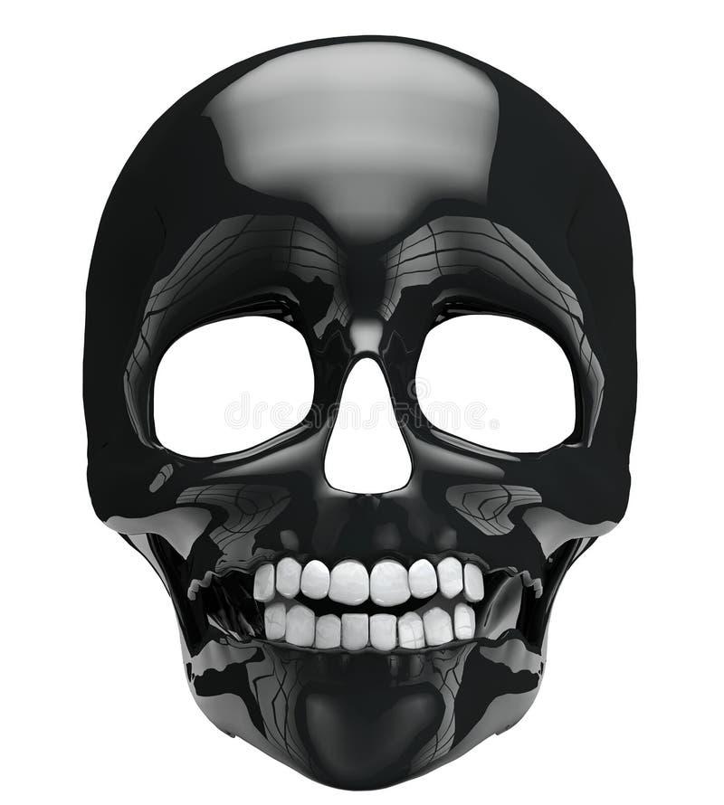 Crânio preto ilustração do vetor